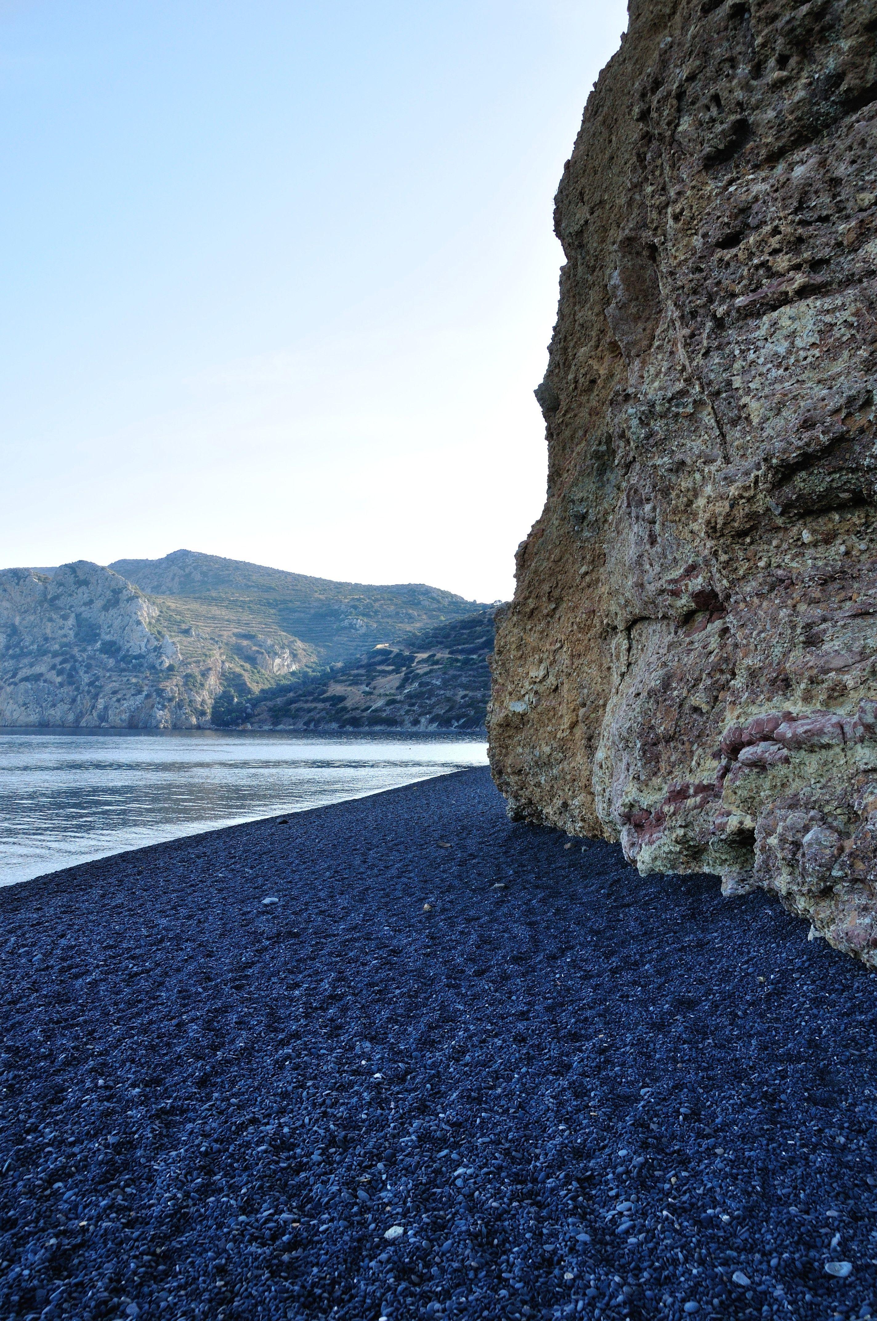 Black Pebble Beach In Chios Greece Imgur