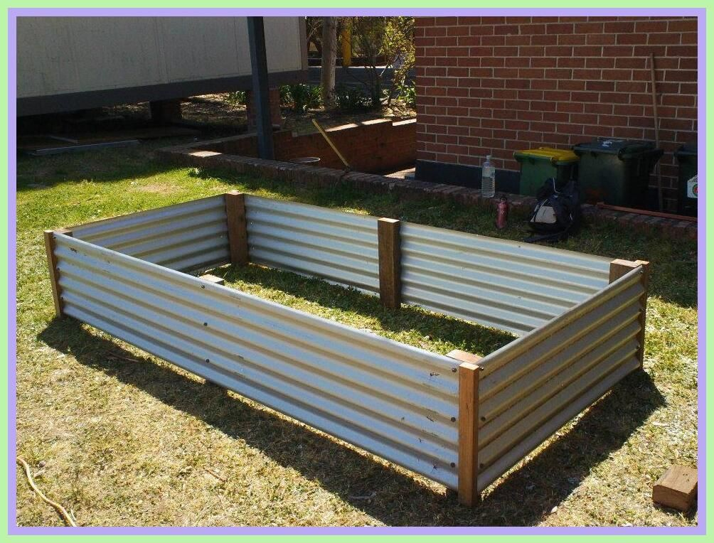40 Reference Of Raised Garden Bed Corrugated Metal In 2020 Corrugated Garden Beds Raised Garden Bed Plans Garden Beds