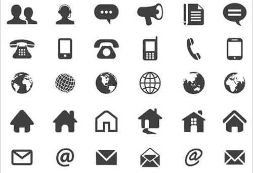 23 Free Contact Icons Useful for Website Design | Download
