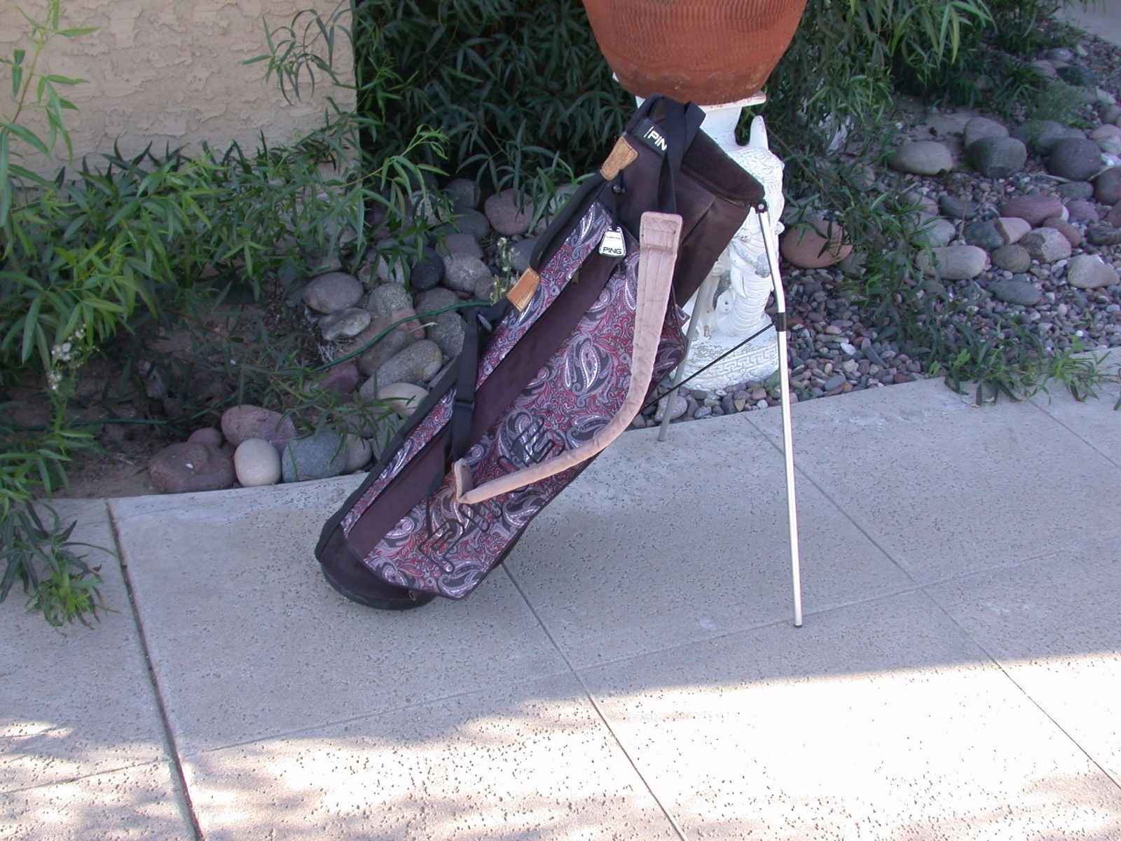 Rare Vintage Ping Karsten Golf Bag Paisley Pattern Cart Carry