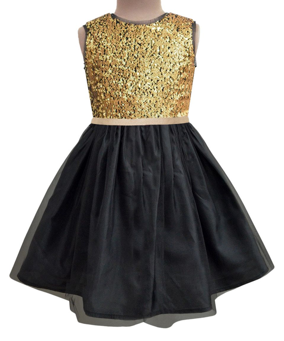 48++ Black and gold toddler dress information