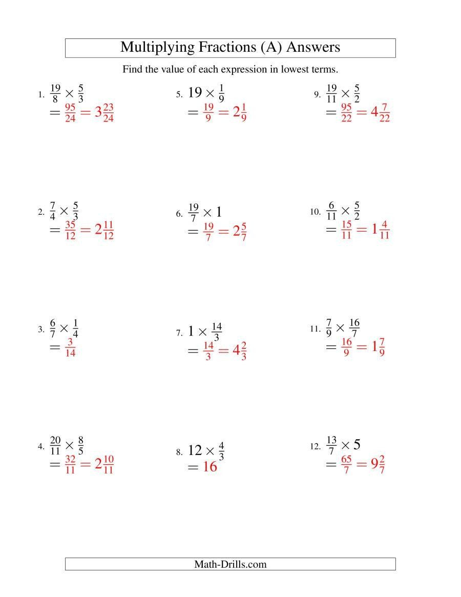 Whole Numbers As Fractions Worksheets Multiplying And Simplifying Fractions With So In 2020 Simplifying Fractions Adding And Subtracting Fractions Fractions Worksheets