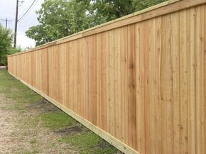 I See Cedar Fences For Miles And Miles This Is Our 1x6 Slats With Some Beauty Boards On The Top And Bottom Cedar Fence Cedar Wood Fence Wood Fence