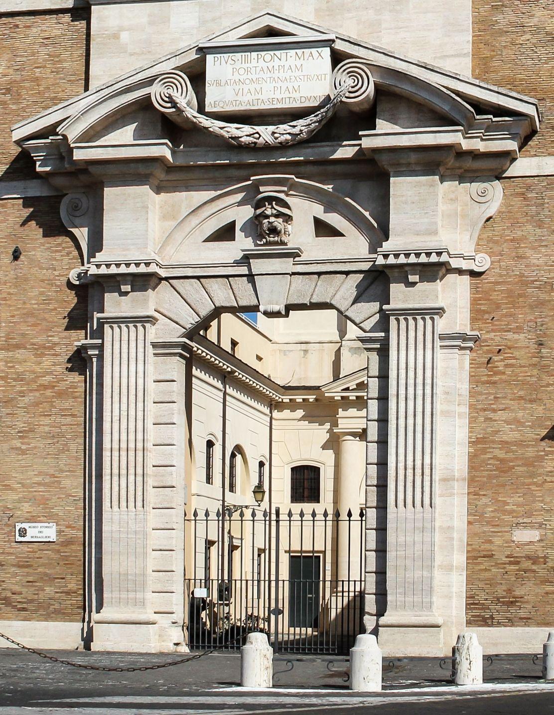 Porta pia portal architecture of michelangelo - Hotel porta pia roma ...