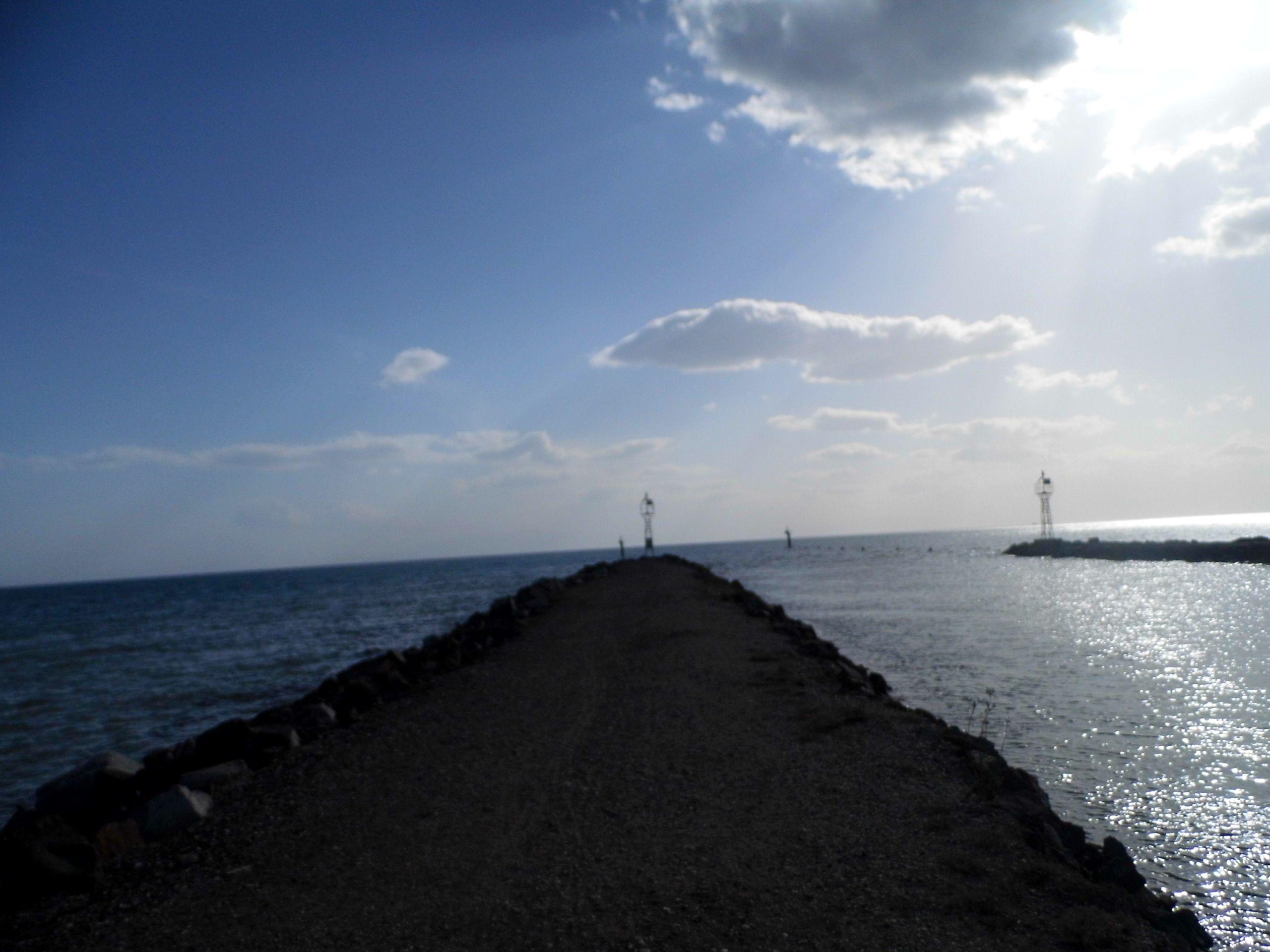 sea greece holiday hot country blue sky clouds beach sand rocks