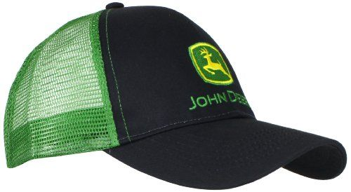 f04b8547a Great for John Deere Men's Logo Contrast Mesh Back Core Baseball Cap ...