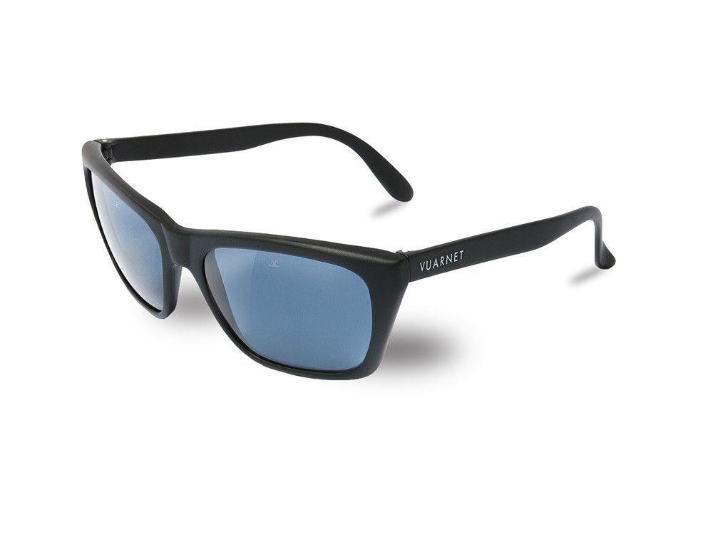 ea27377bb92b Vuarnet VL0006 Matte Black Blue Polarized | Products | Matte black ...