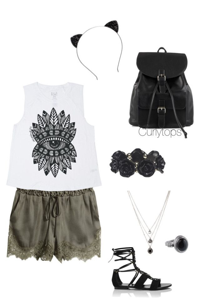 Untitled #25 by curlytops12 on Polyvore featuring polyvore, fashion, style, Billabong, H&M, Tamara Mellon, NLY Accessories, Wet Seal and Forever 21