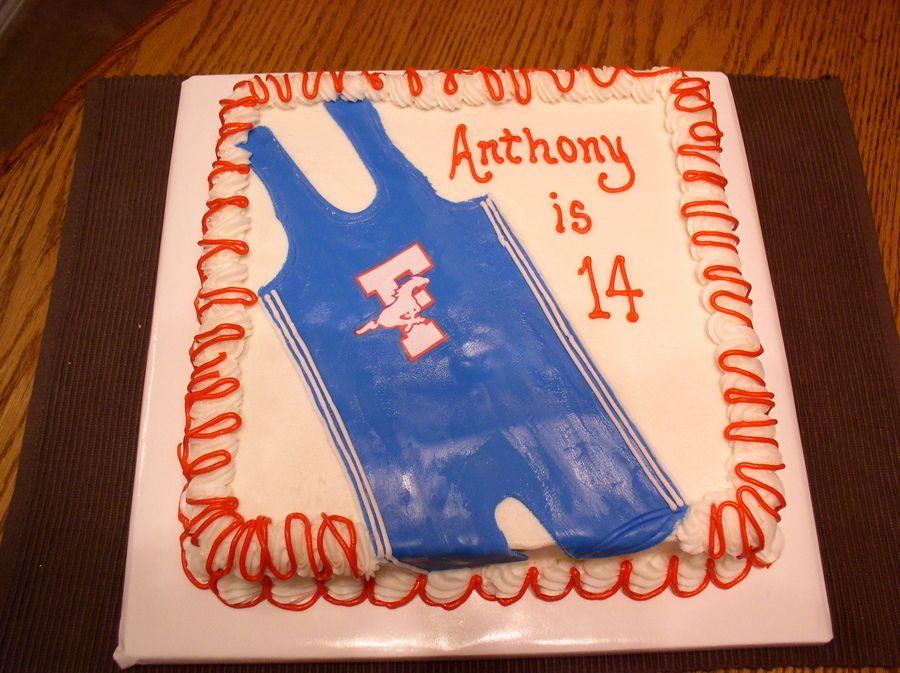 Wrestling Uniform Wrestling Birthday Cakes Wrestling Cake