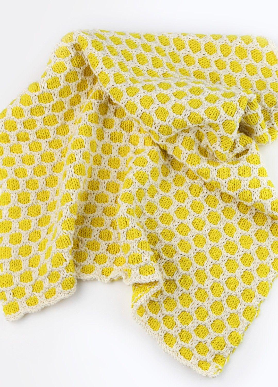 Knitting Kit Cotton Baby Bee Blanket