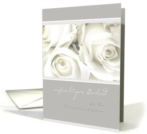 Aufrichtiges Beileid German Sympathy Card On The Loss Of