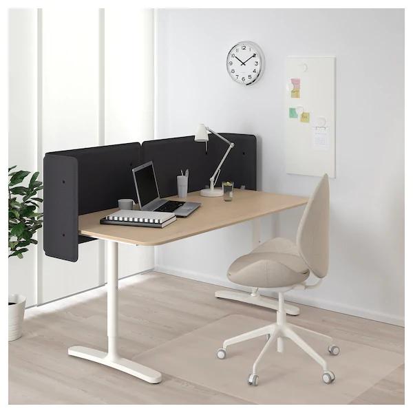 Bekant Reception Desk White Stained Oak Veneer White 63x31 1 2 21 5 8 Ikea Ikea Bekant Corner Desk Ikea Corner Desk