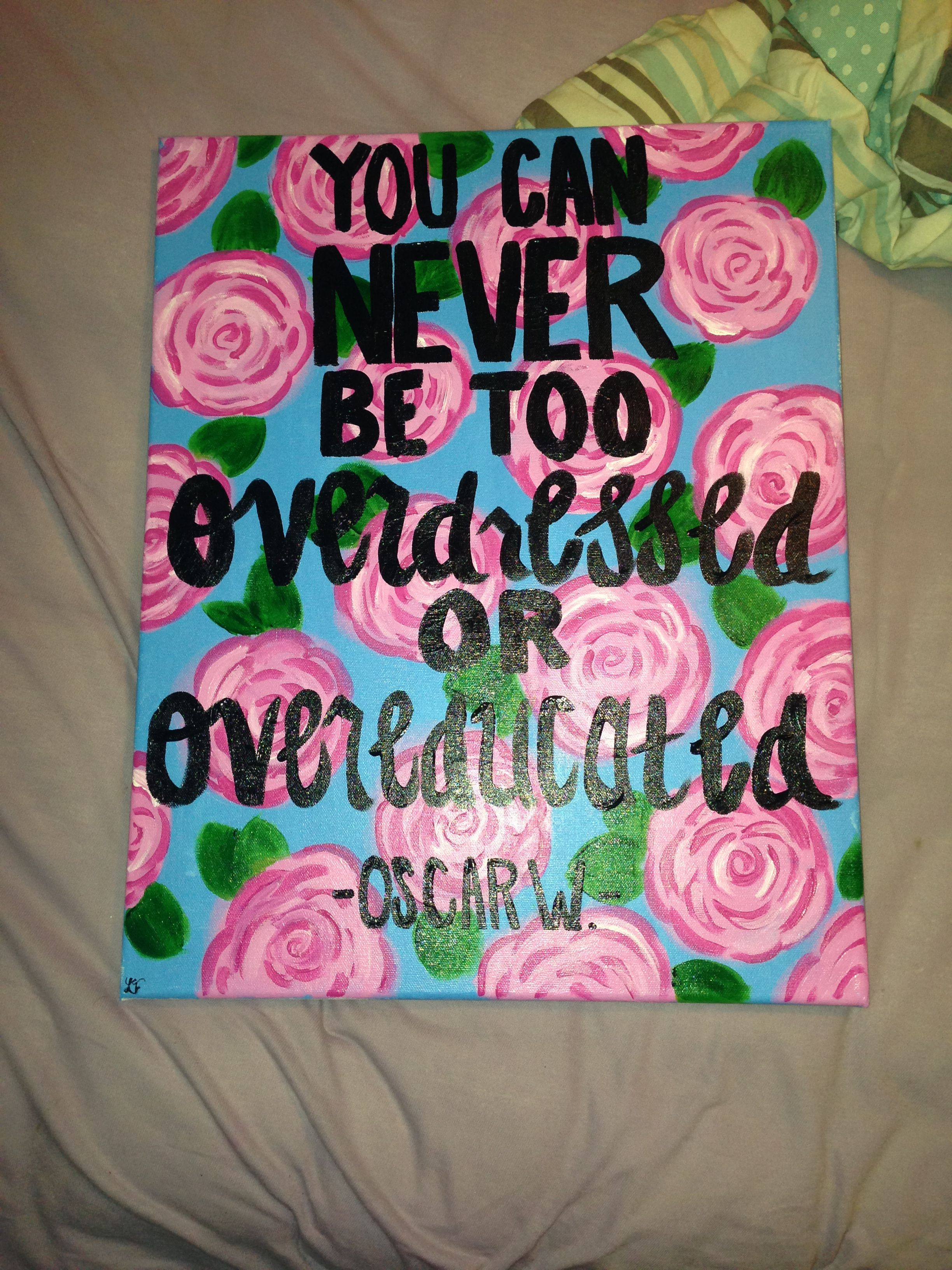 hand painted lilly pulitzer canvas oscar wilde quotes painted hand painted lilly pulitzer canvas