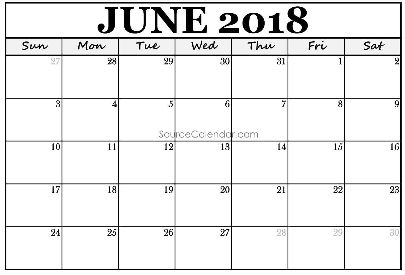 pin by sourcetemplate on june 2018 calendar in 2018 pinterest