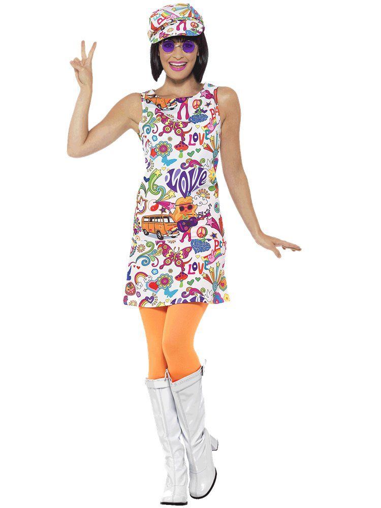 60/'s Groovy Chick Adult Costume