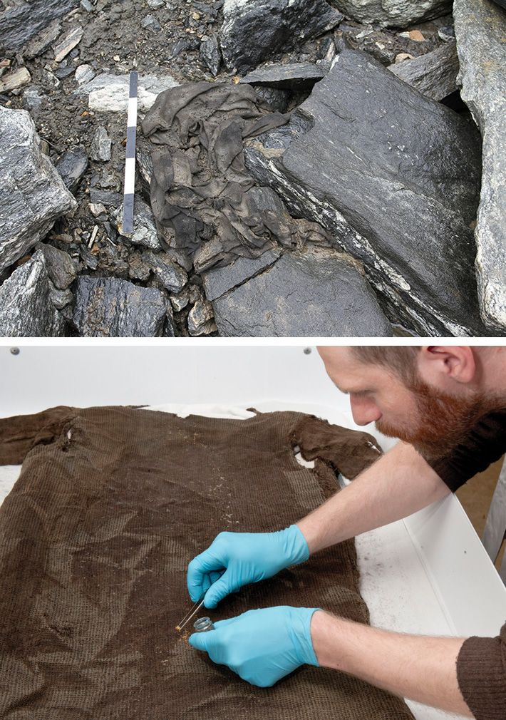 The discovery of the kyrtel in 2011 was just such a stroke of luck. Made of lamb's wool and big enough to fit someone about five foot nine, the garment is 1,700 years old.