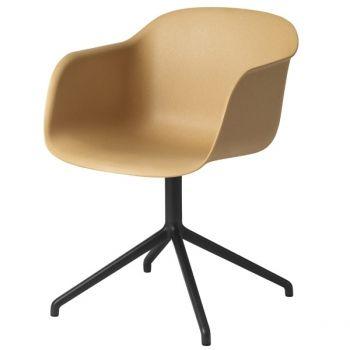 Fiber tuoli, pyörivä, natural/musta