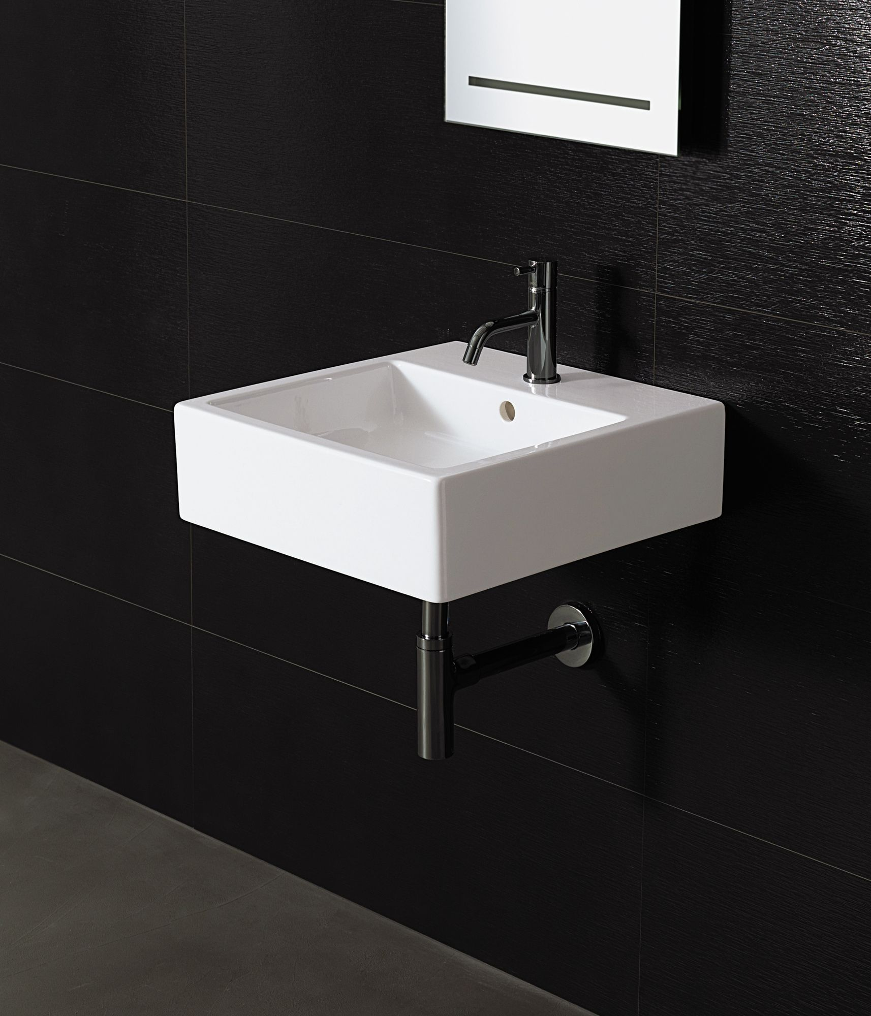 Bissonnet Area Boutique Ice Large Square Ceramic Bathroom Sink In White Wall Mounted Bathroom Sinks Ceramic Bathroom Sink Contemporary Bathroom Sinks
