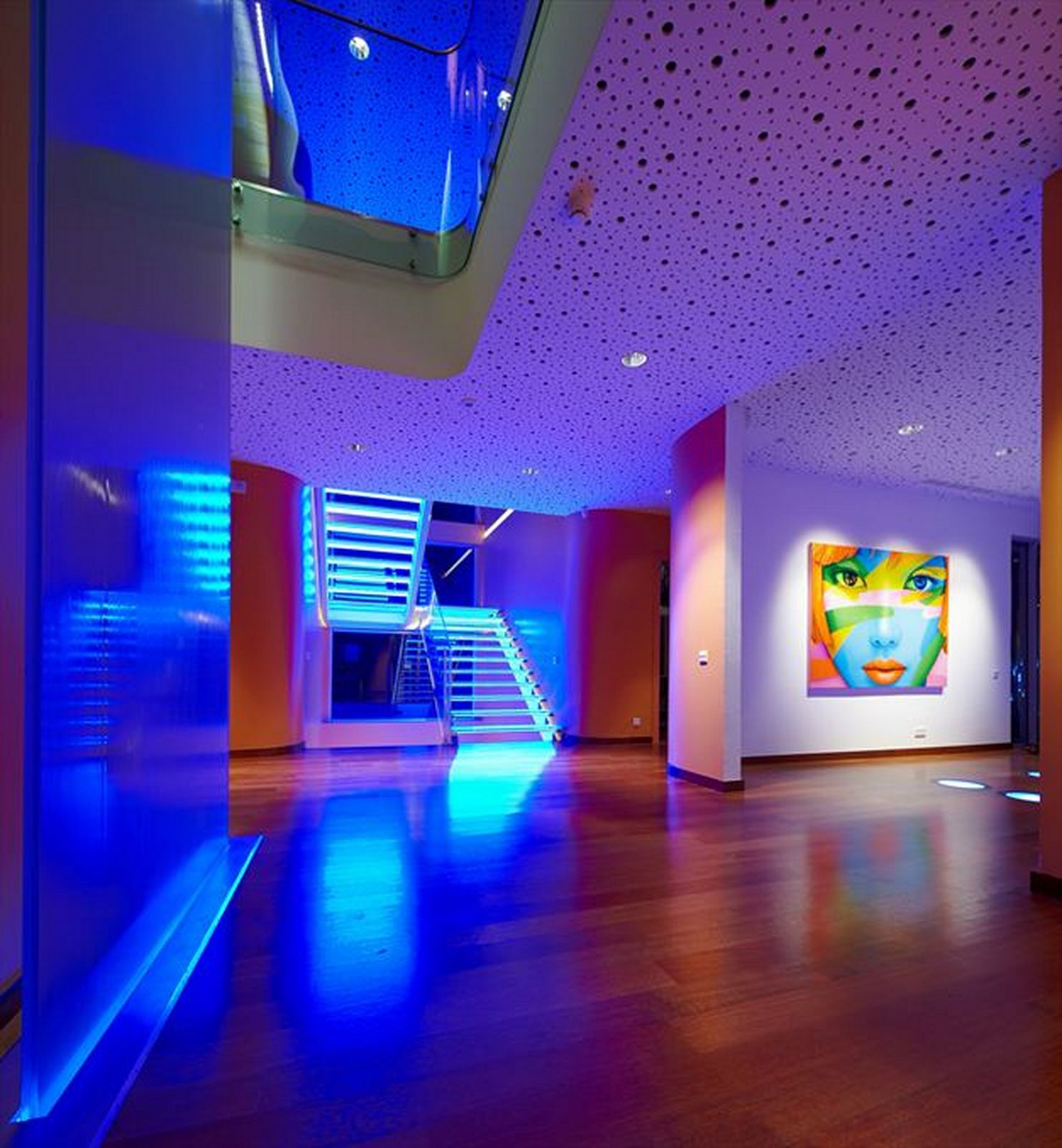 Colorful House Ideas Yazgan Design Architecture Interior LED Lighting  Theluxhome.com