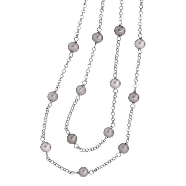 36 in. Grey Pearl Necklace