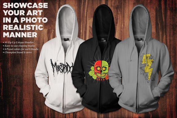 zip-up hoodie mockup kitgo media on creative market   mockups, Powerpoint templates