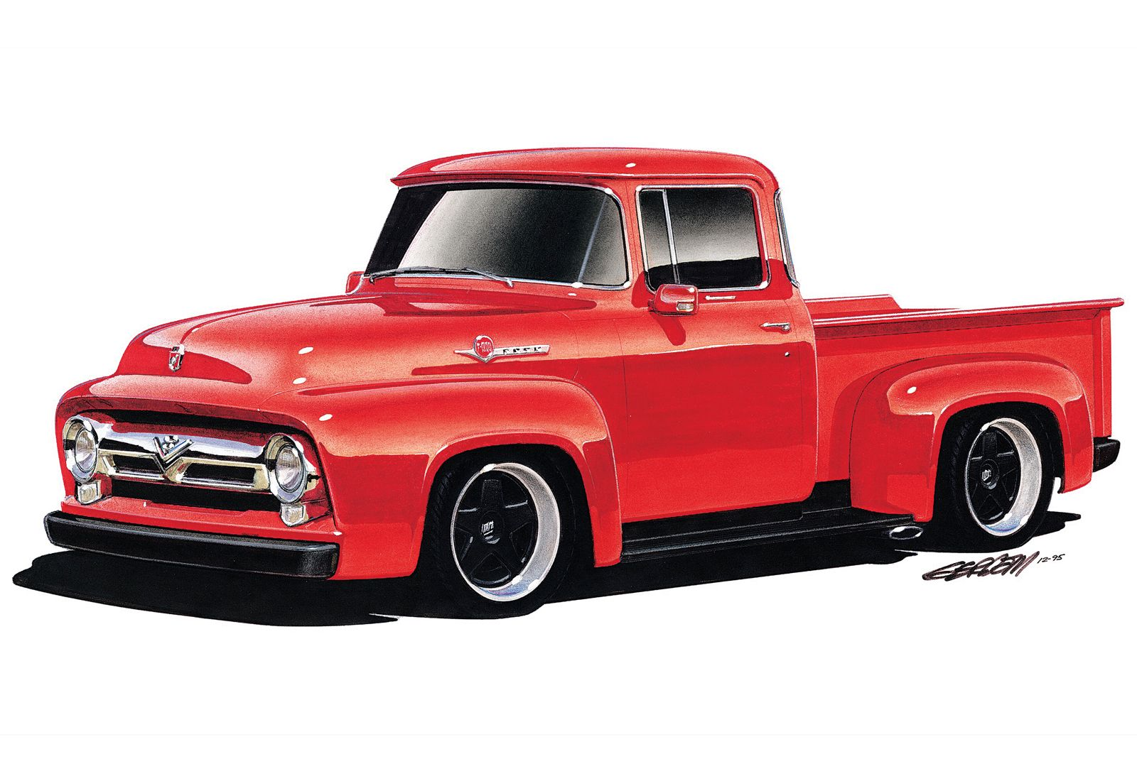 94 Pin 1956 Ford F100 Truck On Pinterest