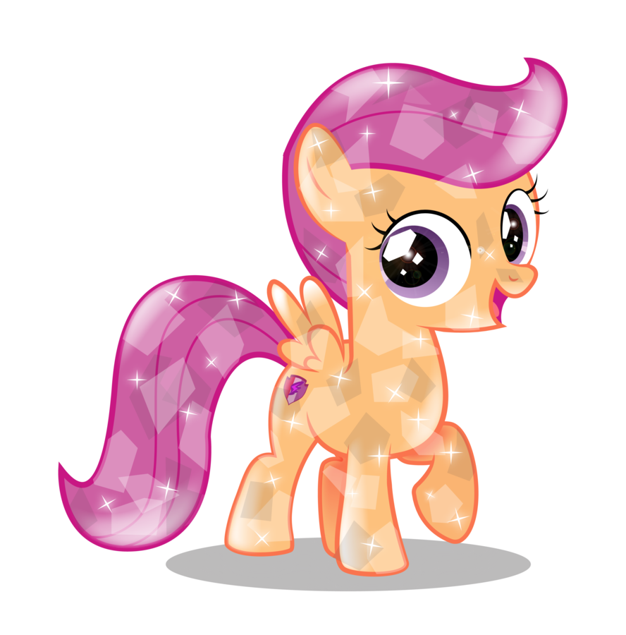 Crystal Scootaloo My Little Pony Characters My Little Pony Pictures My Little Pony Movie Personality profile page for scootaloo in the my little pony: crystal scootaloo my little pony