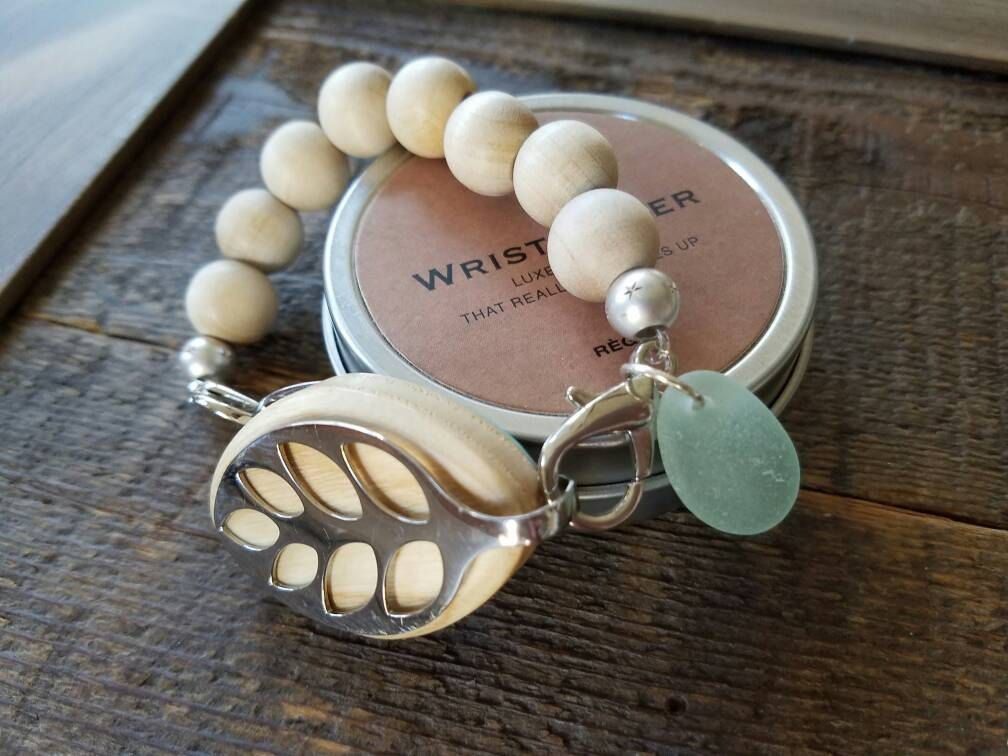 Bellabeat Leaf Activity Tracker Accessory Bracelet Band Of Sandalwood With Sterling Silver Matte Stars And California Sea Gl By Dooglelinhk On Etsy