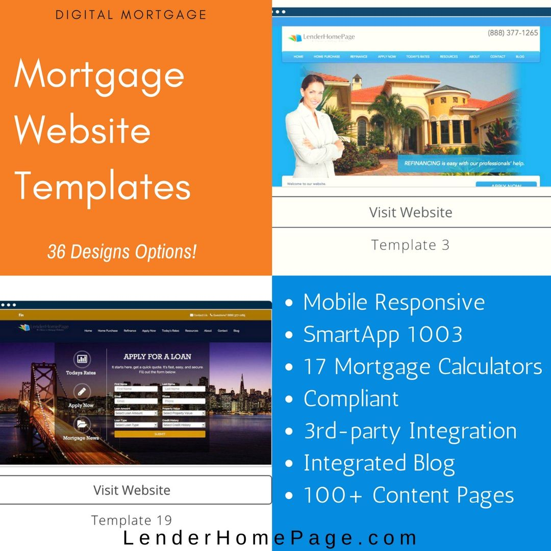 Mortgage Website Templates At LenderHomePagecom Digitalmortgage - Mortgage website templates