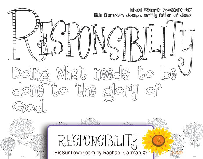 Character Quality Responsibility Join Me Each Week As We Study A