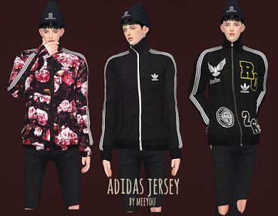 d2d9d1de My Sims 4 Blog: Adidas Top by MeeyouX | may cc | Sims 4 clothing ...