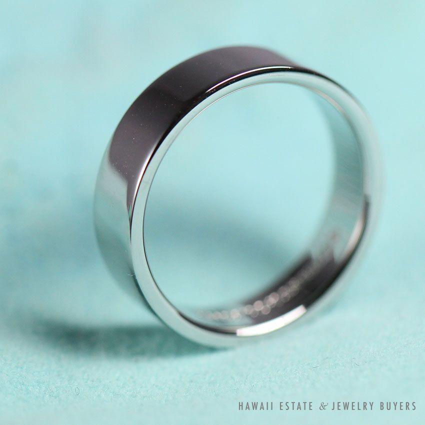 Tiffany Co Platinum Men S 6mm Flat Wedding Band Ring