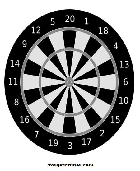 picture about Printable Dart Board known as Printable Dart Board Capturing Focus Plans (printable