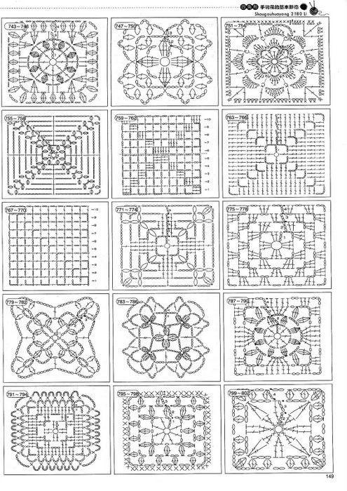 Ideas para el hogar: 2180 Puntos para tejer | cuadrado Isi ...