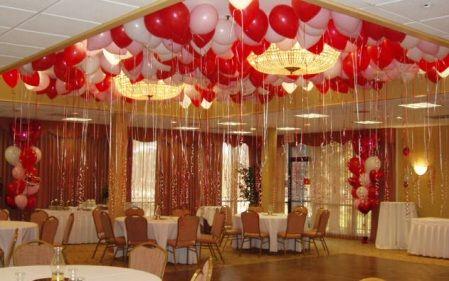 Decoracion de techo con globos para amor y amistad for Decoracion amor y amistad oficina