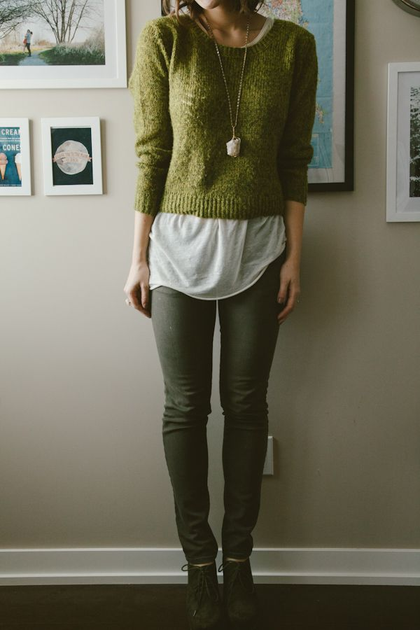 3785951901 Beautiful warm fall colors put in one outfit  Faded jeans