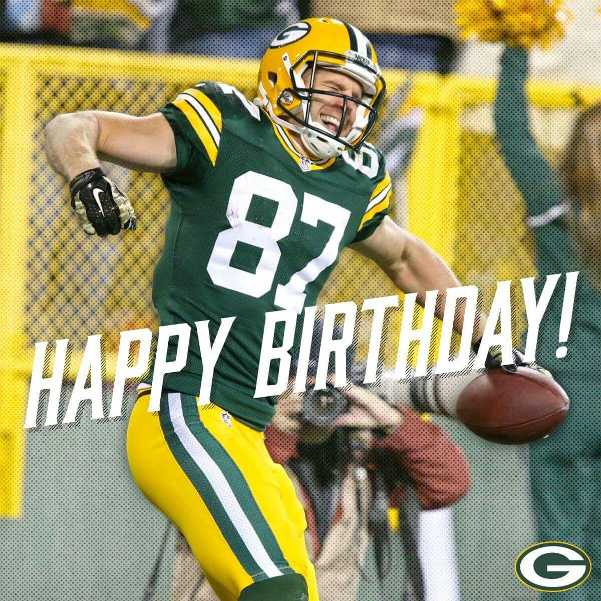 Happy Birthday Jordy Nelson Packers Football Green Bay