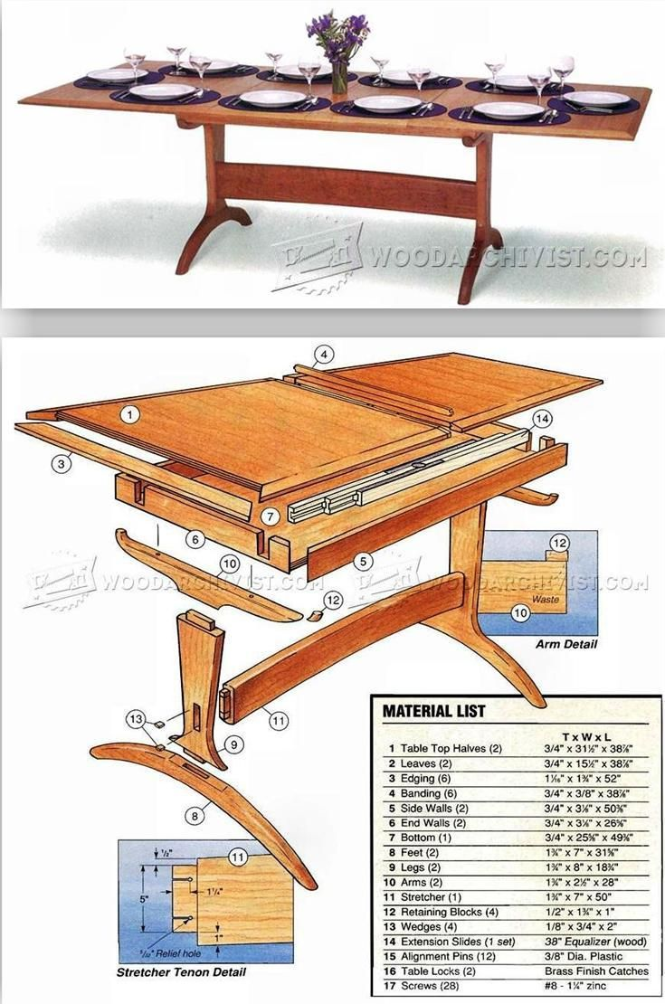 Dining Room Table Plans Furniture Plans And Projects