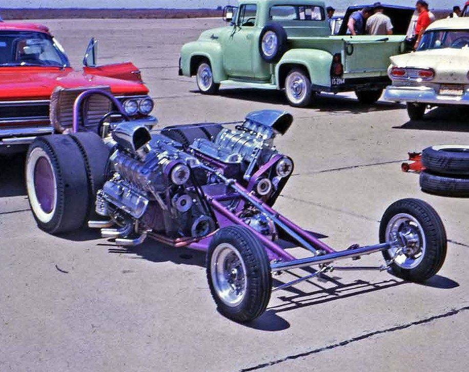 Eddie Hill\'s incredible Popsicle Purple, duel blown Pontiac ...