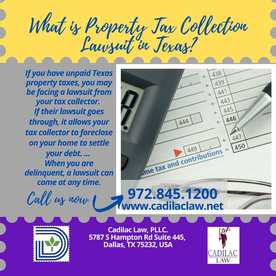 What is property tax collection lawsuits in texas in 2020