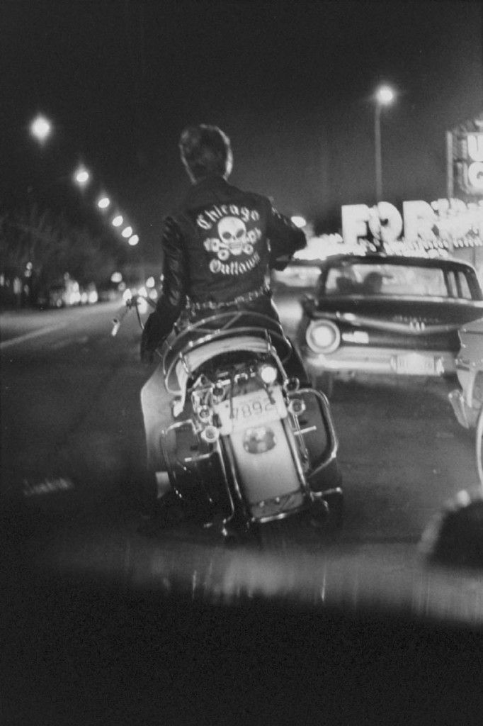 by Danny Lyon Benny, Grand and Division. Chicago, Illinois, 1965. From The Bikeriders.