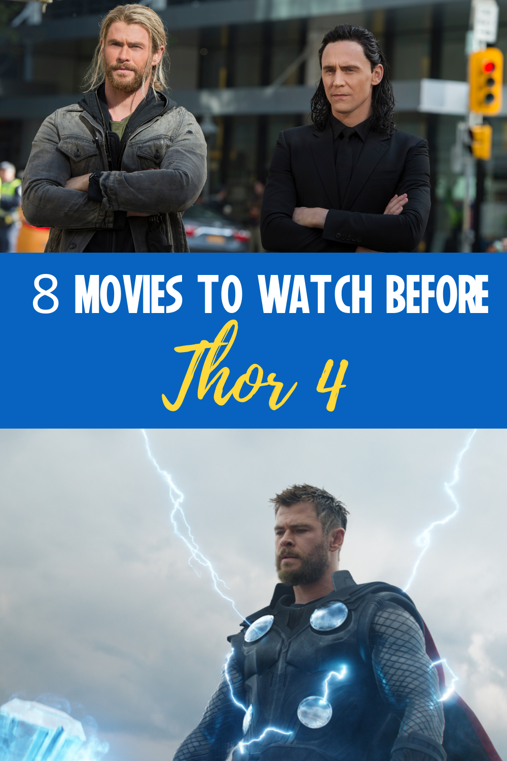Marvel Movies to Watch Before Thor 4 #marvelmoviesinorder Get your Marvel movie marathon list here for all things Thor! And here it is- All the Marvel movies in order to watch before Thor 4 comes to the MCU.  #thor #marvelmovies #mcu #marvelmoviesinorder