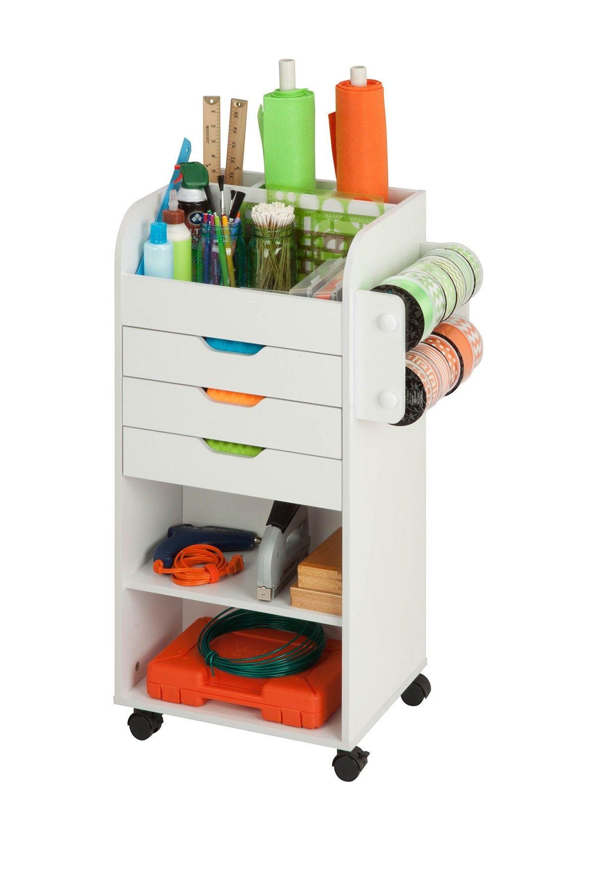 Honey Can Do Rolling Craft Storage Cart In 2020 Craft Storage