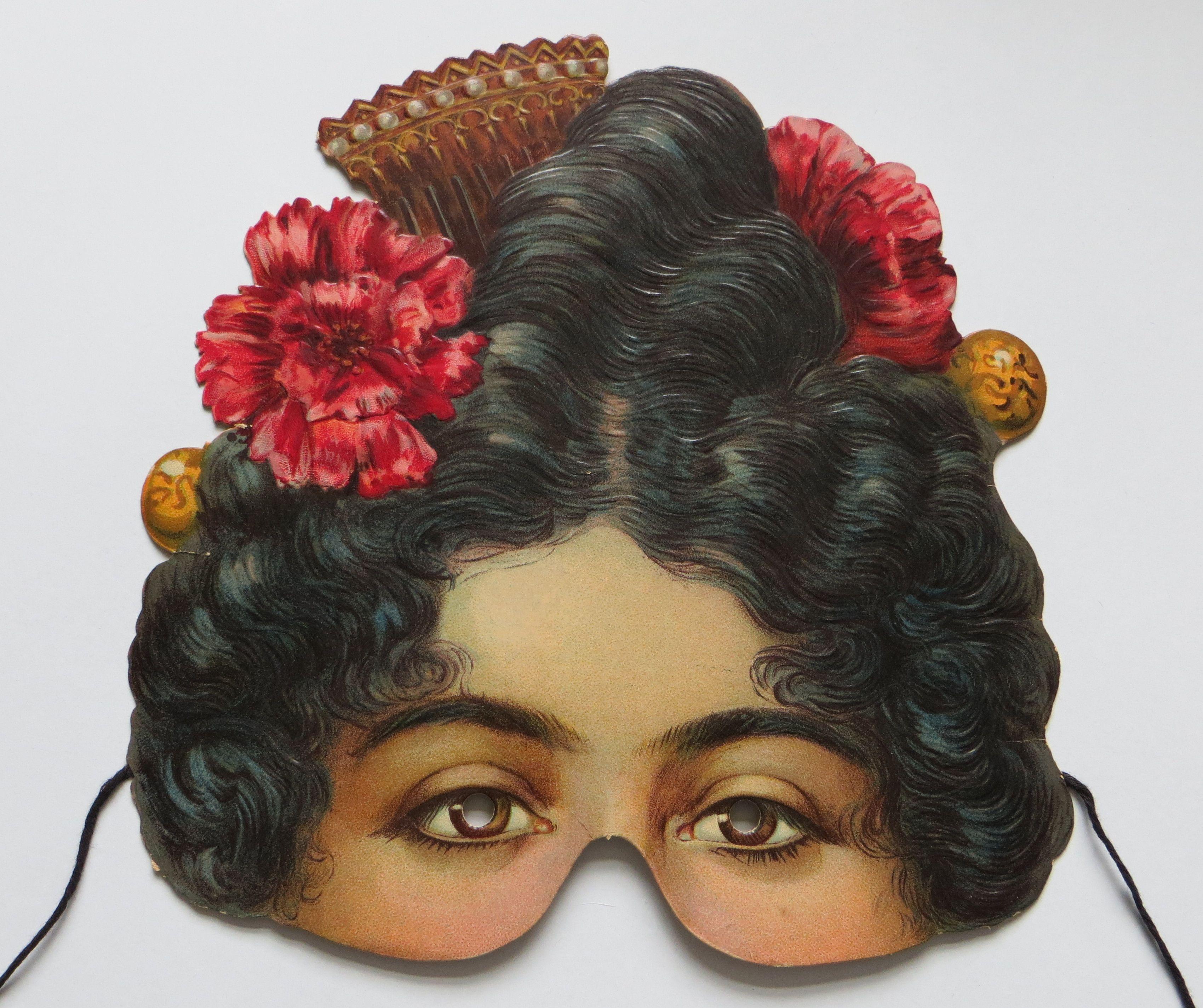 Full Sized Image Carman Mask Flamenco Paper Art Craft