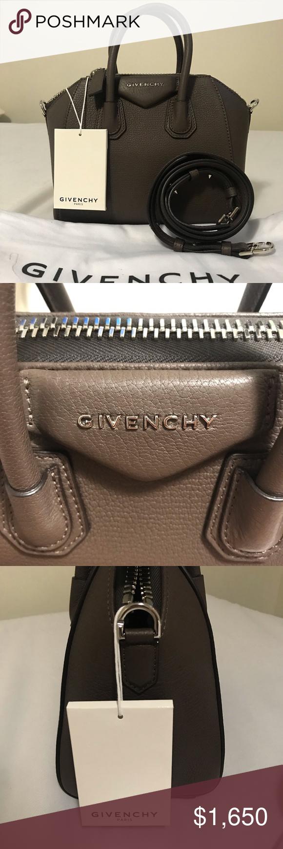 givenchy antigona mini heather grey