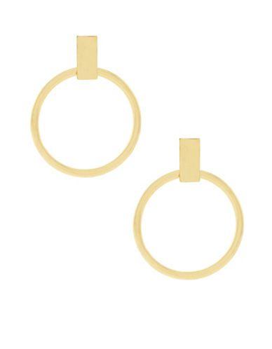Botkier New York Large Ring Hoop Earrings Women's Gold