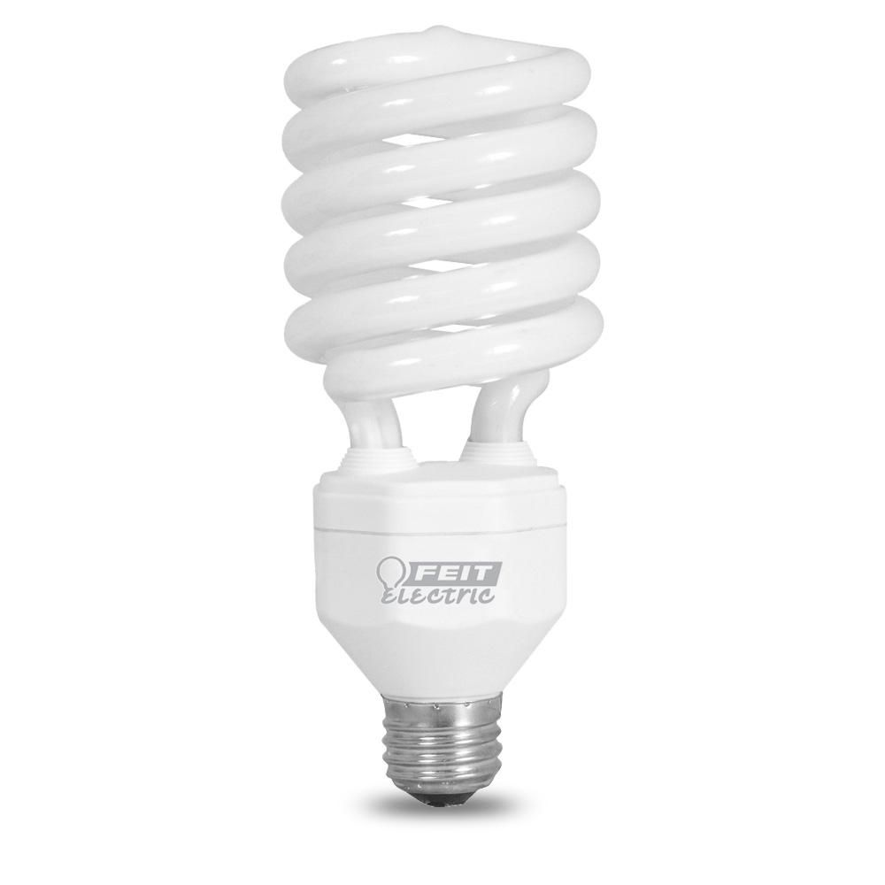 Feit Electric 150w Equivalent Daylight 6500k Spiral Cfl Light Bulb Esl40tn X2f D The Home Depot Light Bulb Daylight Bulbs Energy Saver Light Bulbs