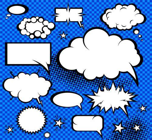 Free Printable Dialog Balloons. | Arte de cómic popular, Burbujas ...