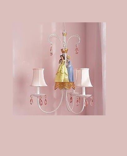 Disney Chandelier Princess Cinderella Belle Light New
