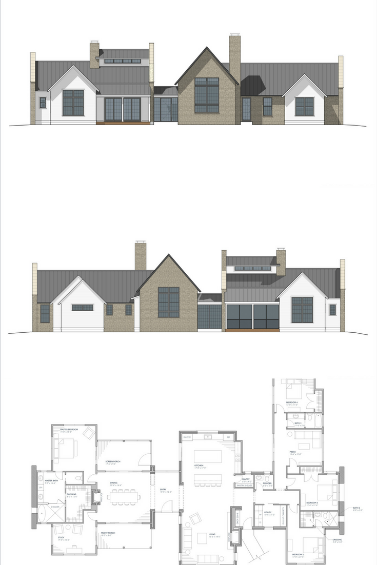 Ferrandaise Modern Farmhouse Floorplan European Farmhouse House Plans Farmhouse